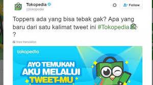 Customer Service Tokopedia Melalui Akun Twitter