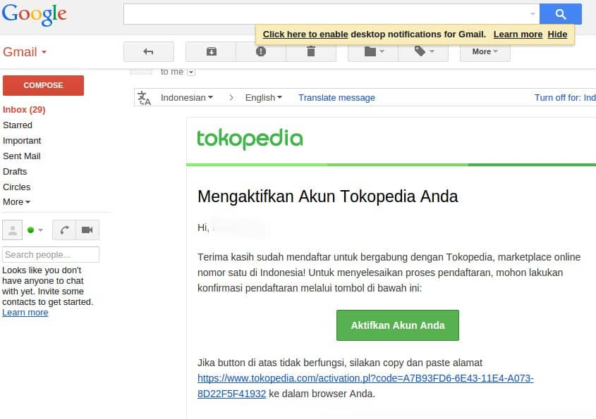 Customer Service Tokopedia via Email Tokopedia terbaru