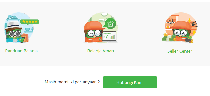 (Help Center) di Aplikasi Tokopedia
