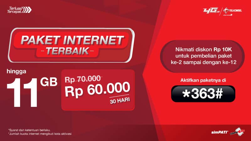 20 Kode Paket Internet Murah Telkomsel 30gb Rp 70rb