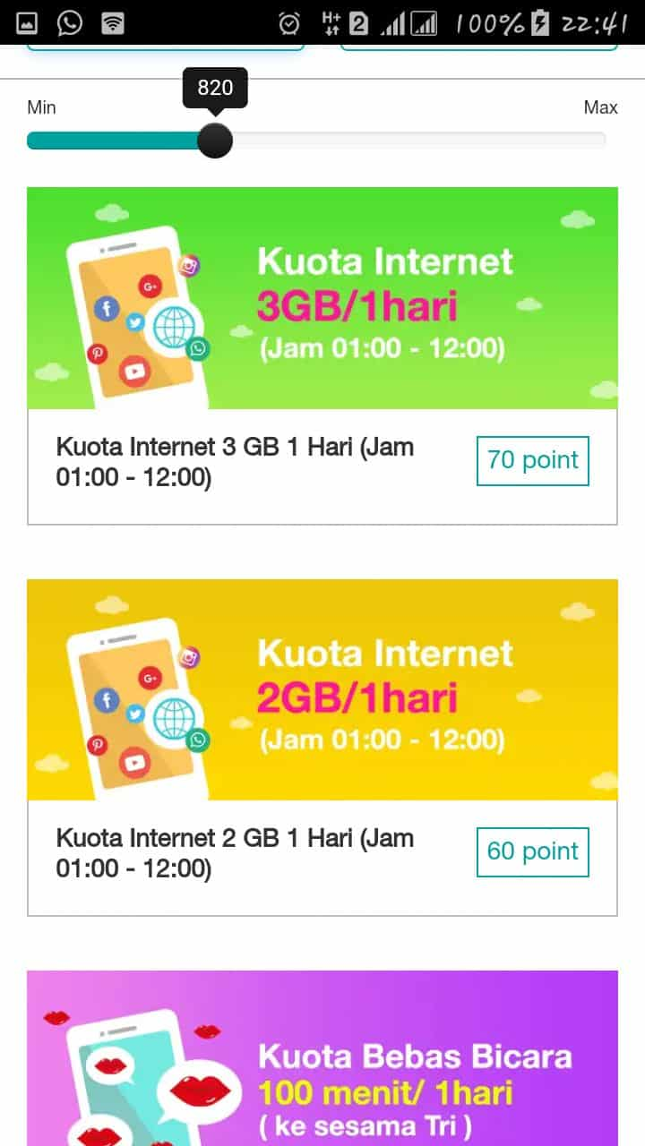 Voucher Internet Three