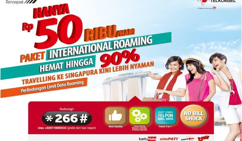 Telkomsel Roaming Singapura