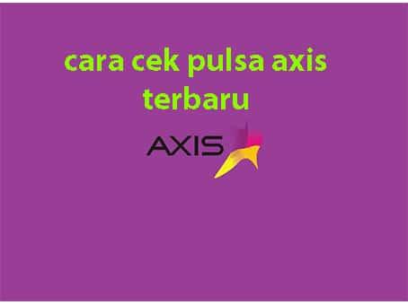 cara acek pulsa axis