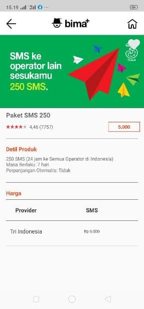 cara daftar paket sms 3