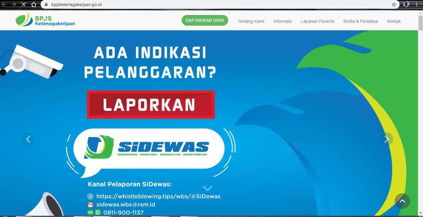cek saldo BPJS melalui website