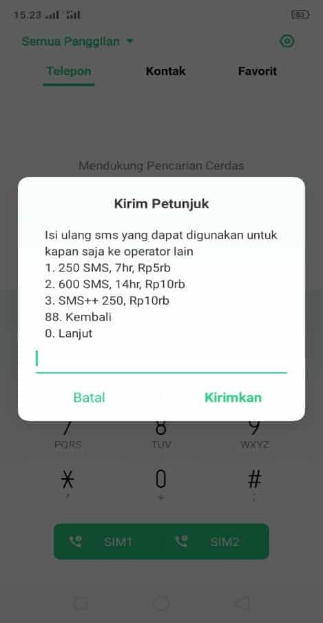 paket murah sms 3