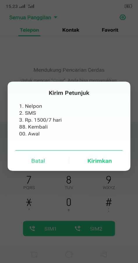 pilih paket sms