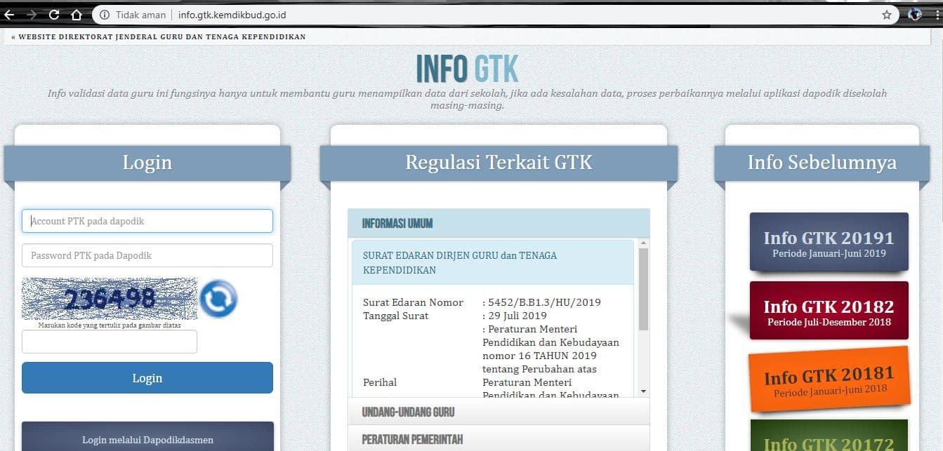 Dengan Melalui Situs GTK
