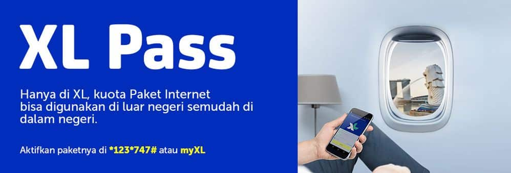 Roaming Internasional XL Pass Bulanan