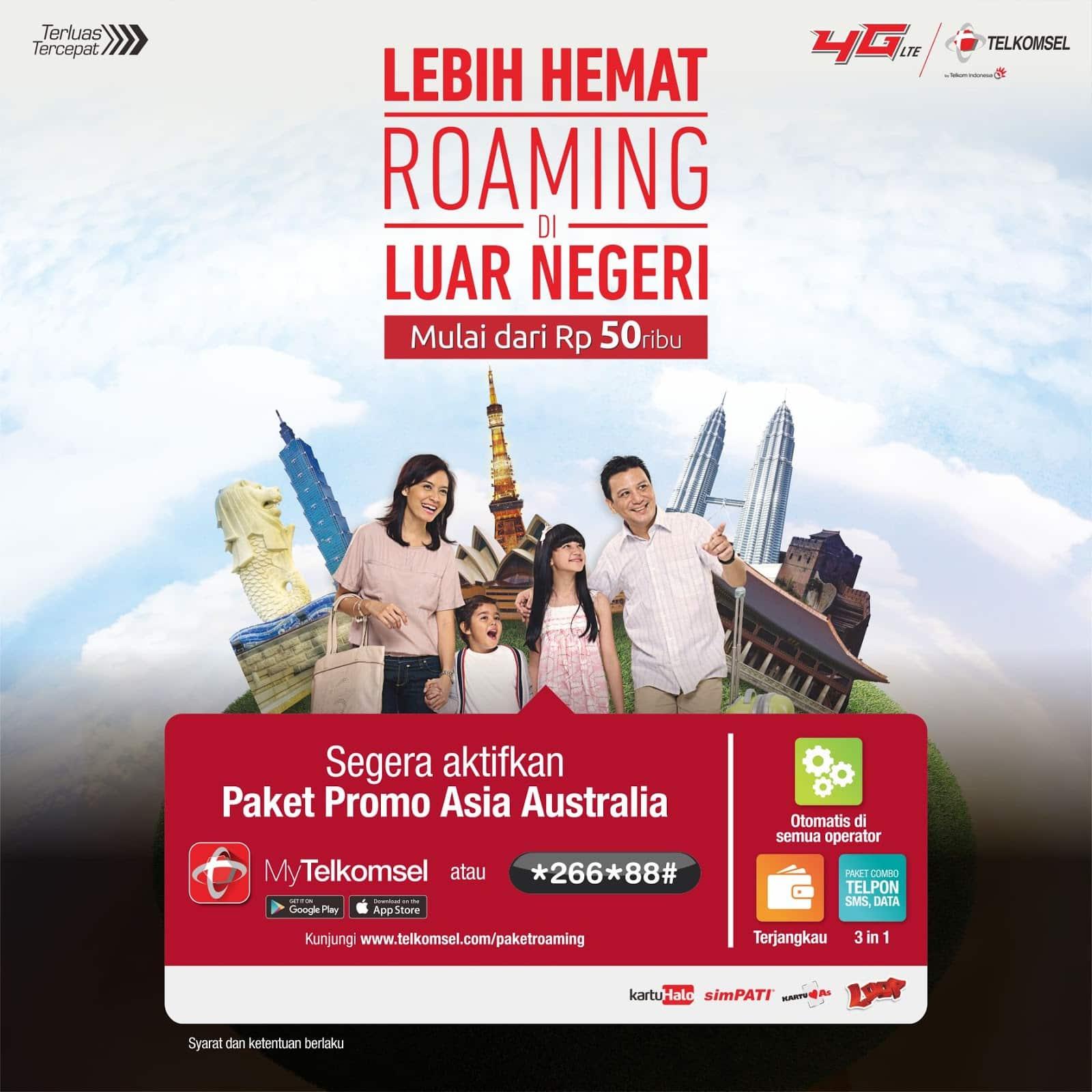 Roaming Telkomsel Asia Australia