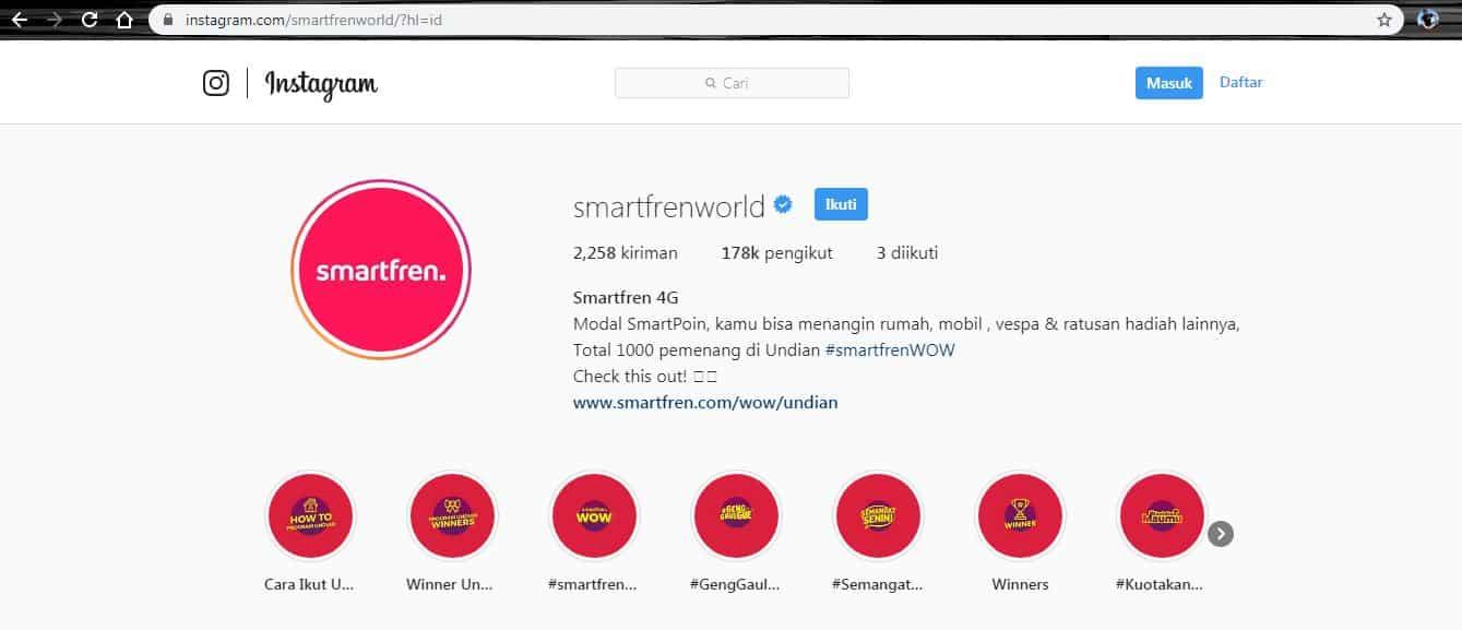 instagram smartfren