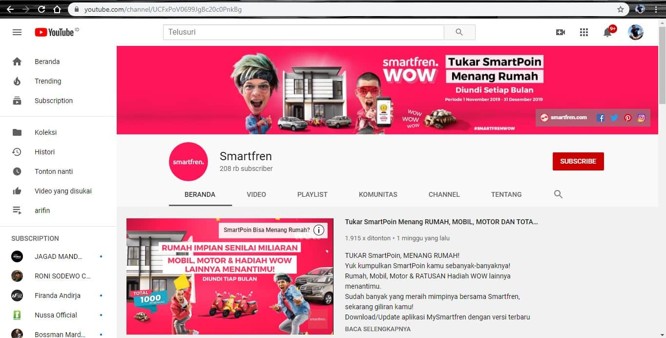 youtube smartfren