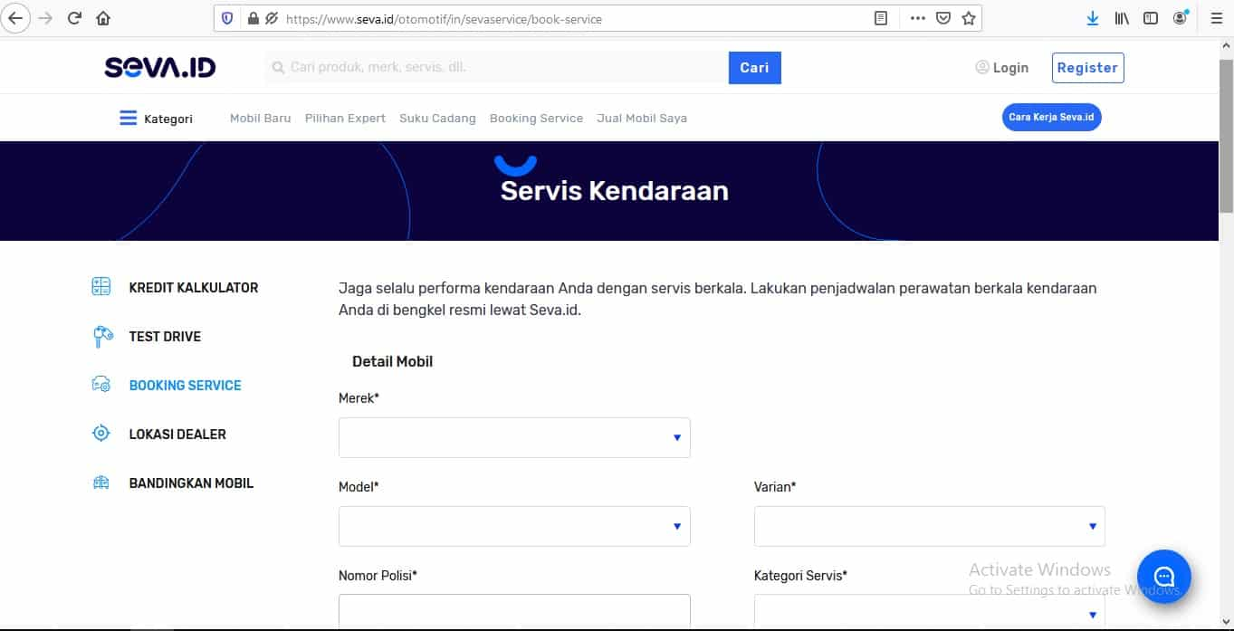 Fasilitas-Booking-Service