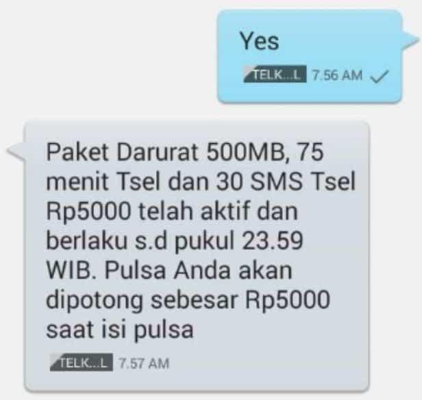 Melalui-SMS