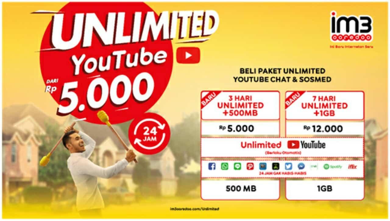 Pilihan-Paket-Unlimited-Indosat-Youtube