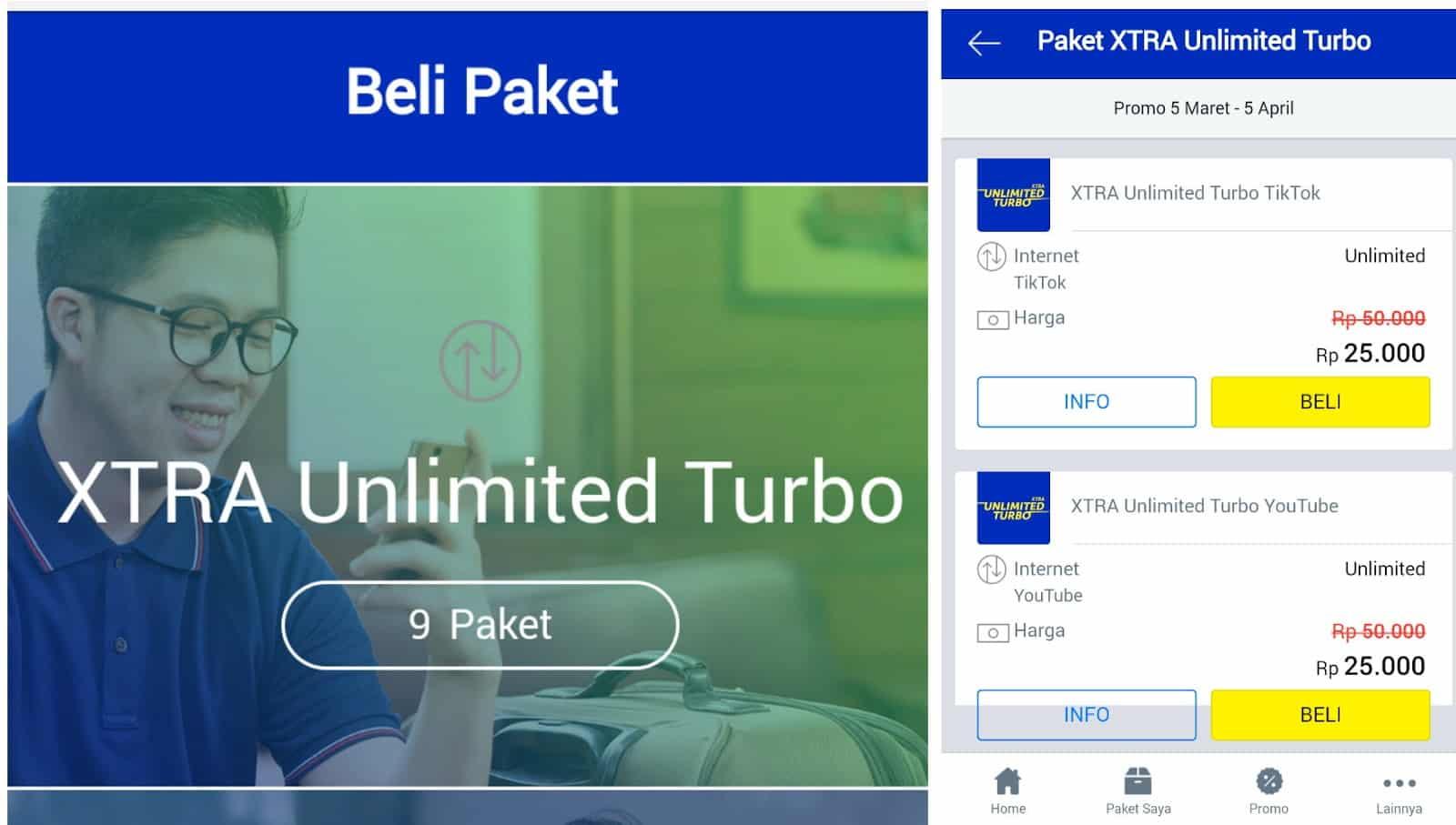Scroll-hingga-tab-yang-paling-ujung-dan-tap-pada-opsi-menu-Xtra-Unlimited-Turbo